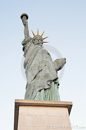 Liberty statue in paris france