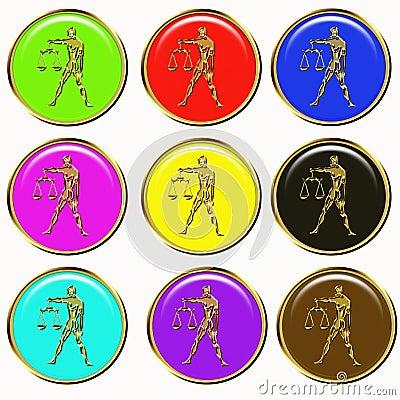 Libra astrology buttons