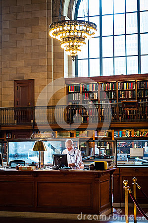 Librarian Editorial Photo