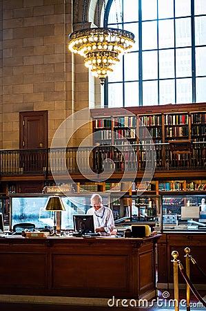 Librarian Editorial Photo