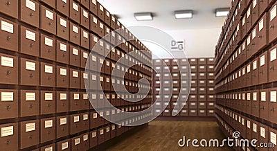 Library 3d cg scene