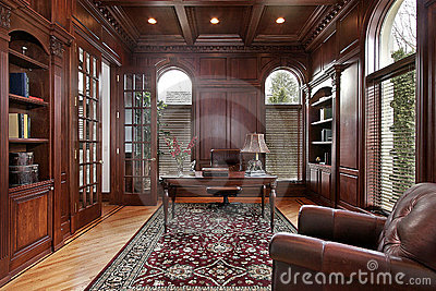 Marvelous Cherry Wood Paneling Library Royalty Free Stock Image Image 9005626 Largest Home Design Picture Inspirations Pitcheantrous