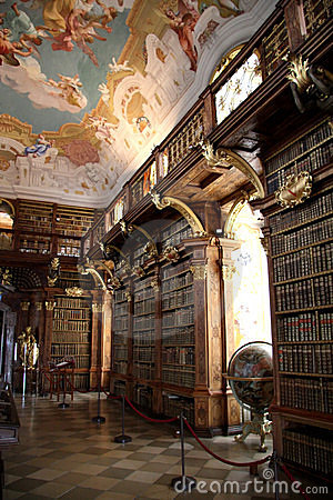 Library in monastery Melk