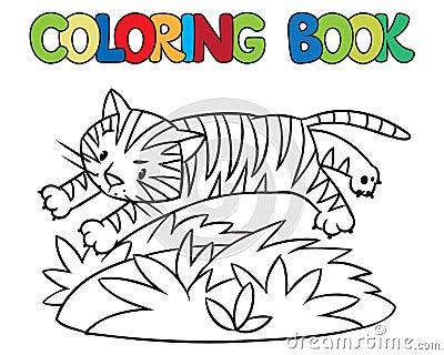 Libro da colorare della tigre selvaggia divertente for Immagini tigre da colorare