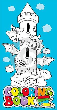 Libro di coloritura con il drago 1