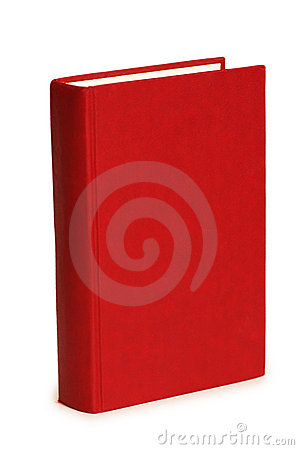 Libro rosso isolato