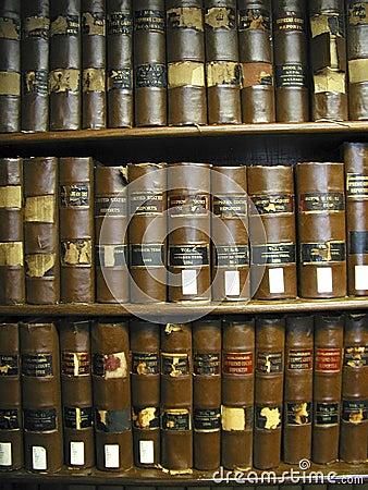 Libros de ley viejos de Tejas