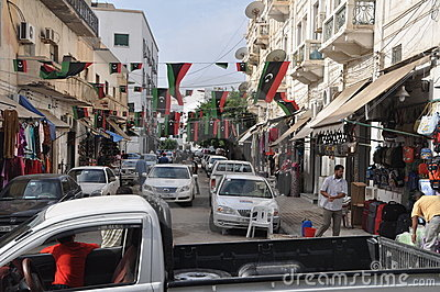 Libya celebrations Editorial Stock Image