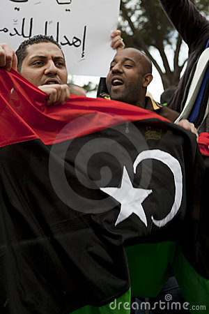 Libyan Embassy Protest Editorial Photography