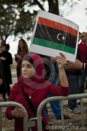 Libyan Embassy Protest Editorial Image