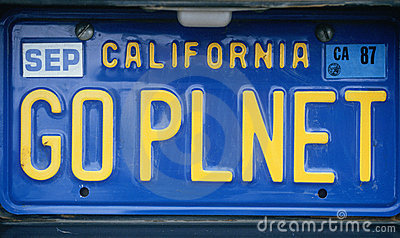 License Plate - California Editorial Stock Photo