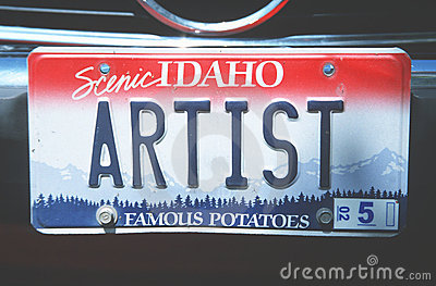 License Plate  In  Idaho Royalty Free Stock Images - Image: 23167969