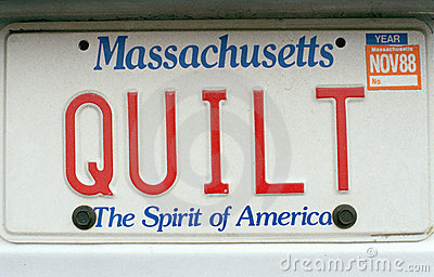 License Plate   in  Massachusetts Editorial Stock Image