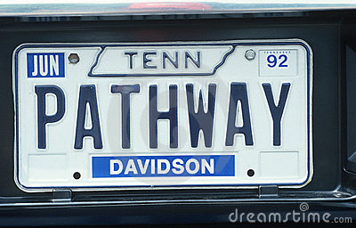 License Plate  in Tennessee Editorial Photo