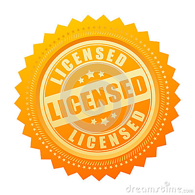 Free Licensed Gold Seal Certificate Icon Royalty Free Stock Photo - 73716885