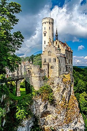 Free Lichtenstein Castle Royalty Free Stock Photography - 49063287