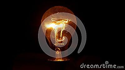 Lichtlamp van de Edison-lamp stock videobeelden