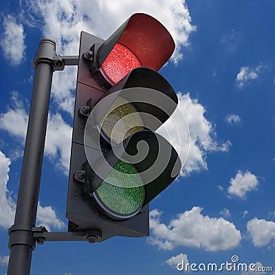 Lichtrood verkeer