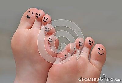 śliczni palec u nogi
