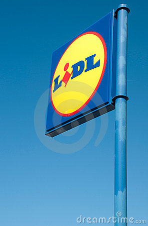 Lidl sign Editorial Image