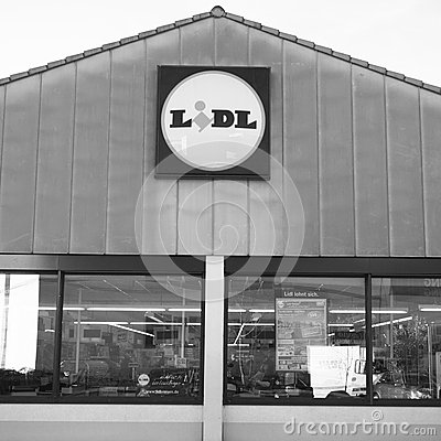 Lidl store Editorial Stock Photo