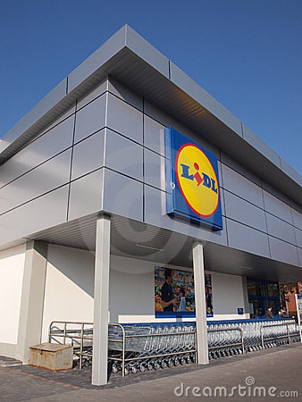 Lidl store, Lublin, Poland Editorial Stock Image