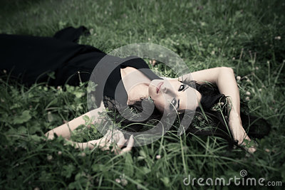 Lie in grass