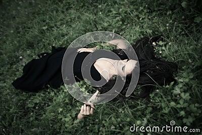 Lie in grass