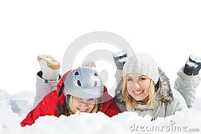 Lie on snow