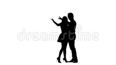 Liebe sind einander verbunden, das sie Liebe haben Schattenbild Weißer Hintergrund stock video