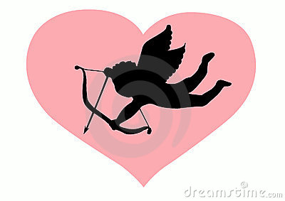 Liebes-Amor-Schattenbild