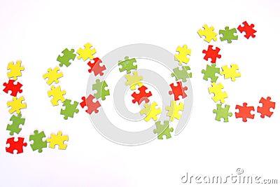 Liebespuzzlespiel
