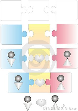 Liebespuzzlespiel - Vektor