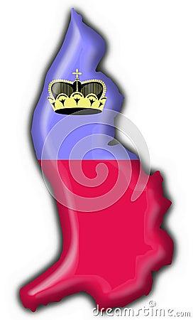 Liechtenstein button flag map shape