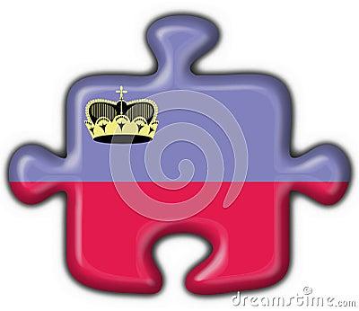 Liechtenstein button flag puzzle shape