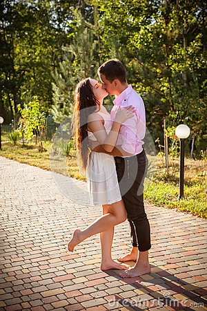 Liefde en affectie tussen een jong paar