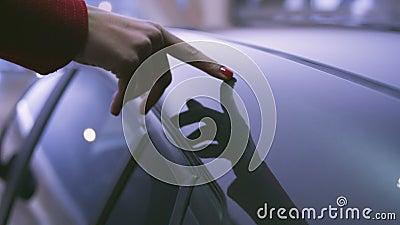 In liefde met de auto stock video