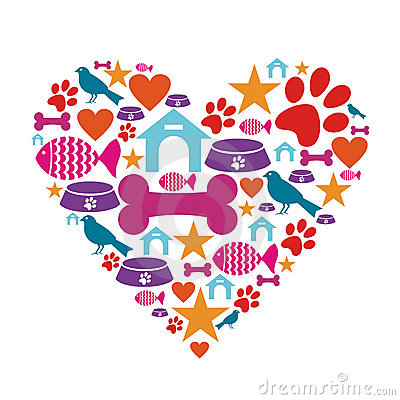 Liefde voor de inzameling van het huisdierenpictogram