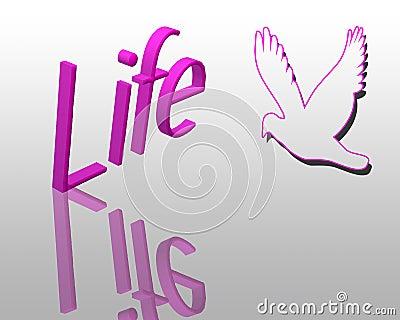 Life 3d text