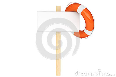 Life Buoy with blank sign
