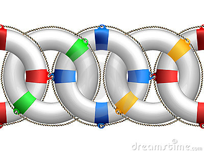 Life buoy horizontal pattern