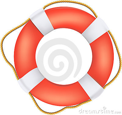 Free Life Buoy Preserver With Rope Royalty Free Stock Images - 18572929