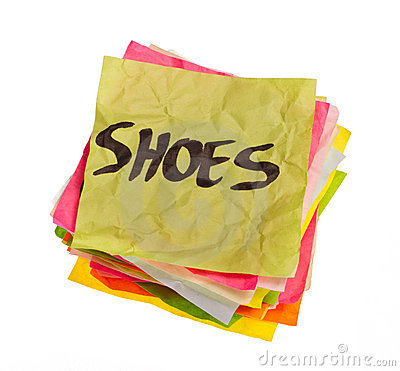 Life choices - making spending decisions - shoes