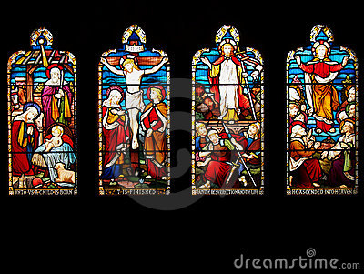 Life of Jesus Christ in Stained Glass