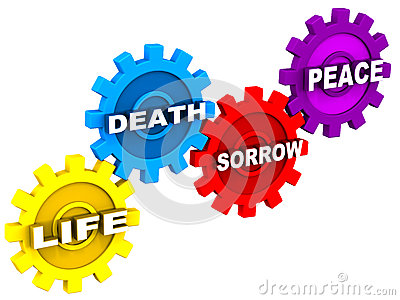 Life death sorrow peace