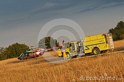 Life flight Editorial Photography