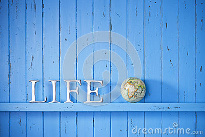 Life Globe Word Background