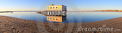 Life-guard building in Fuseta, at Ria Formosa Park