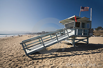 Life guard house on the Santa Monica beach