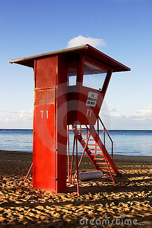 Free Life Guard Stand Stock Photography - 5050732